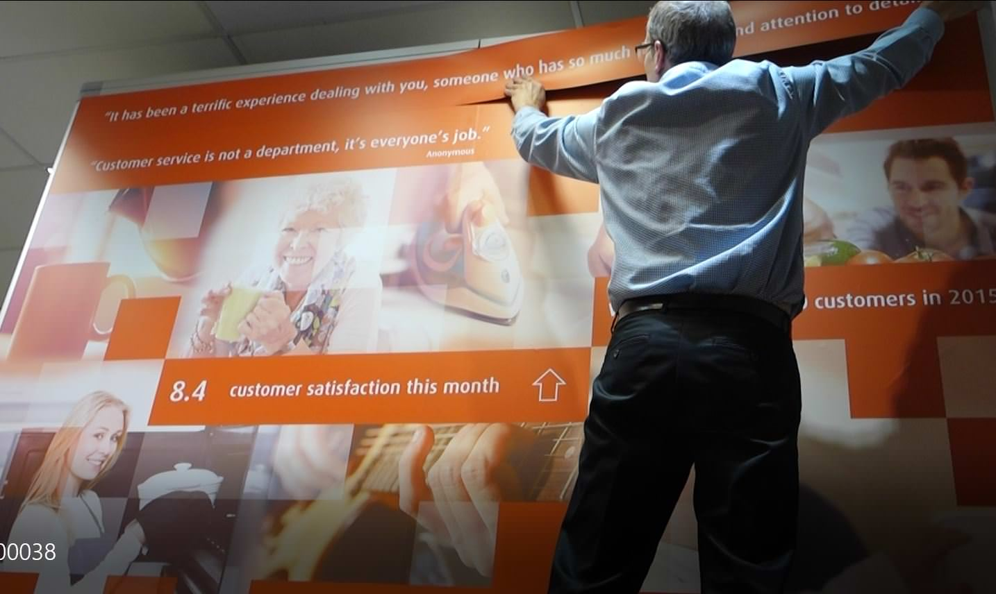 UK Power Networks brand wall video